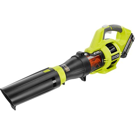 high power electric leaf blower ryobi reconditioned 110 mph 480 cfm 40 volt lithium ion