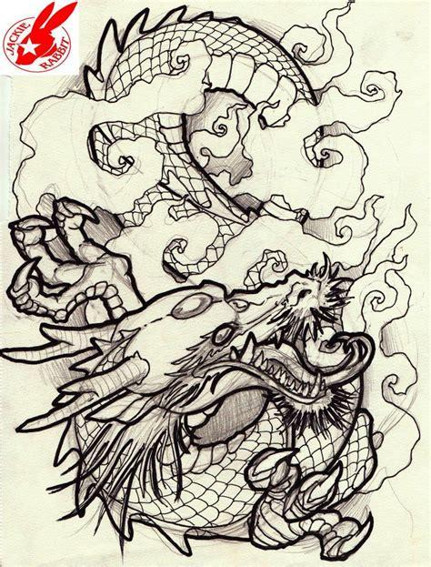 tattoo flash dragon japanese dragon tattoo design by jackie rabbit japanese