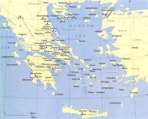 aegean sea map geography of the aegean sea