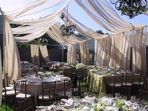 Backyard Country Wedding Ideas by Backyard Wedding With Swagging Town Country Event Rentals