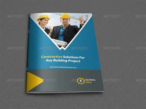 construction business brochure template 8 pages by