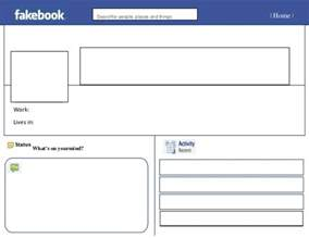 Fakebook Template Docs by Blank Template Cyberuse