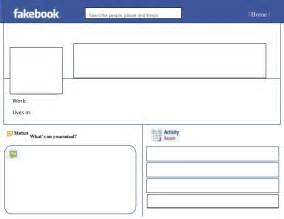 Fakebook Template by Blank Fakebook