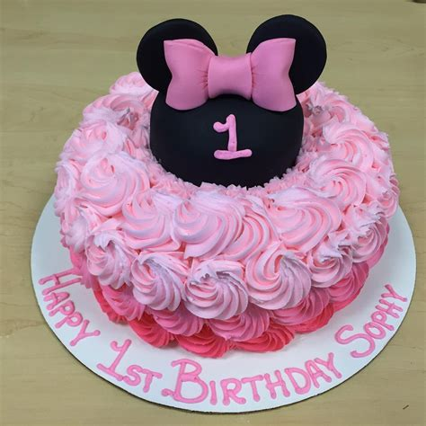 minnie mouse decor cakecentral com minnie mouse rosette first birthday cakecentral com