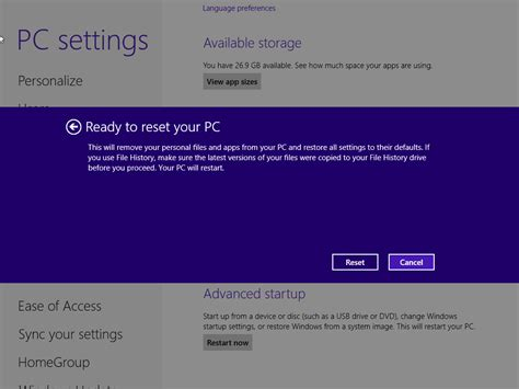 factory reset vista how to factory reset windows 8 8 1