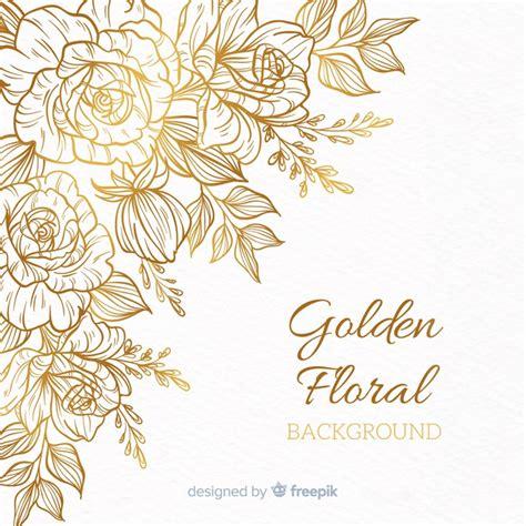 fundo floral dourado baixar vetores gratis