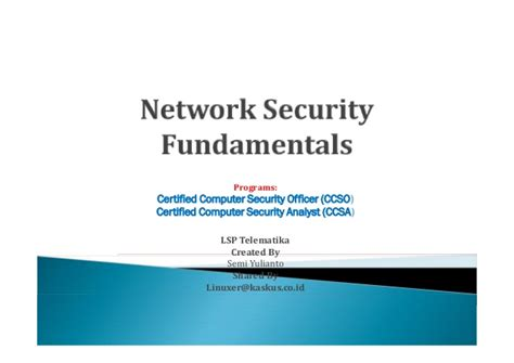Network Security Officer by Network Security Fundamentals