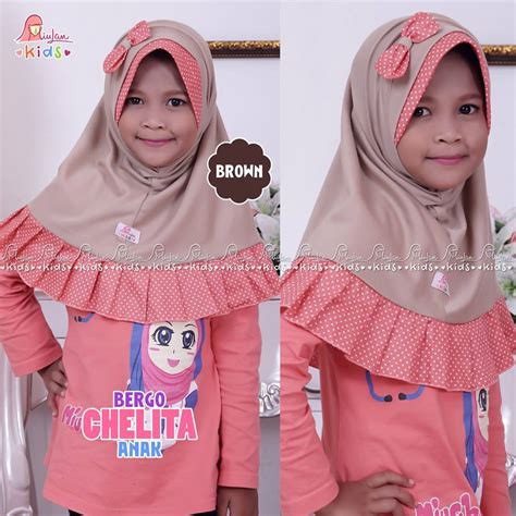 Miulan Dress Kaefy Anak jilbab anak chelita brown miulan boutique