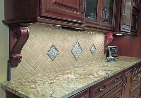 diagonal tile backsplash diagonal feature tile backsplash traditional kitchen