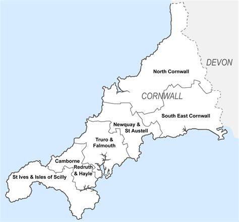 cornwall map cornwall map