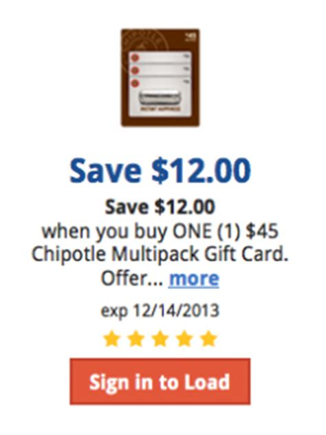Chipotle 25 Gift Card Deal - kroger deal get 25 chipotle gift card for 18 southern savers