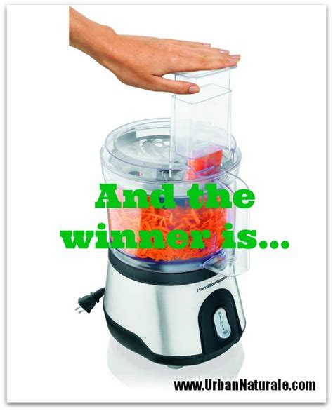 Food Processor Giveaway - announcing the winner of the hamilton beach food processor giveaway live a green