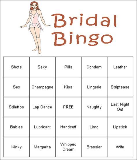 free bridal bingo template free printable bridal bingo cards