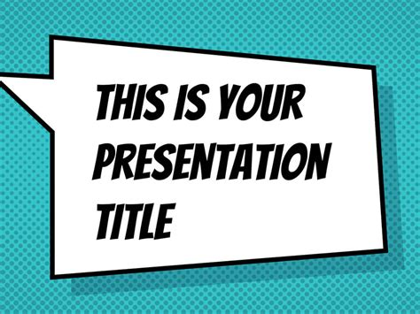 Free Powerpoint Template Or Google Slides Theme With Comicbook Style Comic Book Template Powerpoint