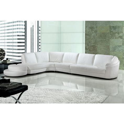 modern white bonded leather sectional sofa 9049 modern white bonded leather sectional sofa