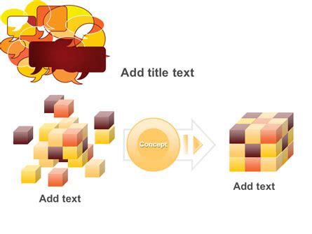 Speech Balloon Template by Speech Balloons Powerpoint Template Backgrounds 07509