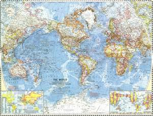 World Maps National Geographic World Map 1960 Maps