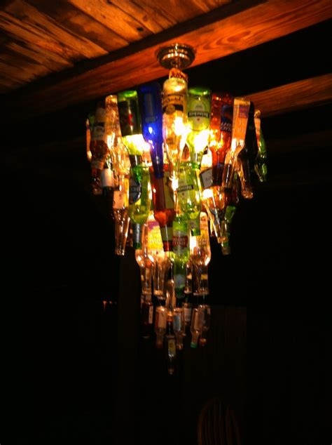 Diy Bottle Chandelier Diy Bottle Chandelier Dustin S House Pinterest