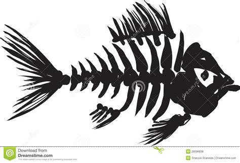 Boat Wall Stickers squelette de poissons photos libres de droits image