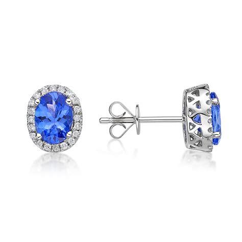 Tanzanite Jewelry by 1 45 Ct Oval Tanzanite Halo Earrings Richland
