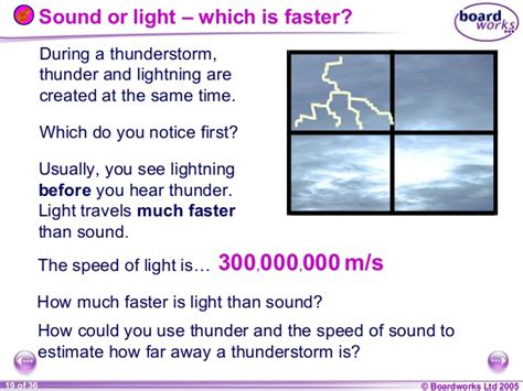 Which Is Faster Sound Or Light by 8 L Sound Hearing Boardworks