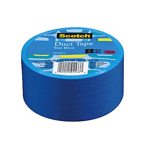 scotch colored and patterned duct tape scotch colored duct tape 1 78 x 20 yd blue by office