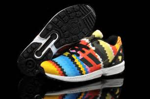zx flux colorful adidas zx flux rainbow colorful yellow blue
