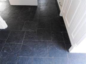 tired black slate tiled floor in sevenoaks restored kent