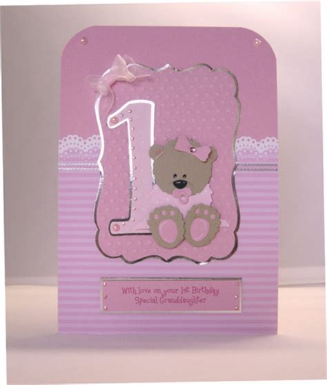Handmade 1st Birthday Cards - children birthday handmade cards