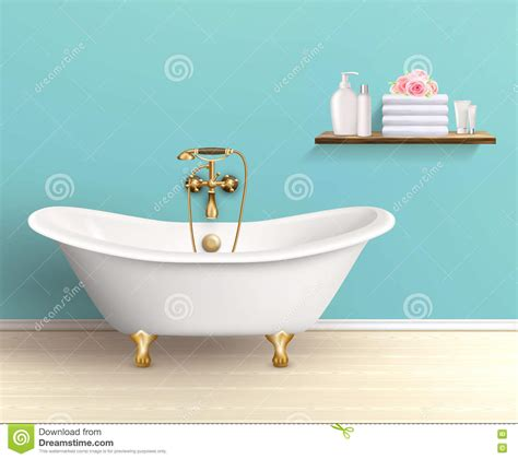 the house com coupon bathroom interior colored poster stock vector image 71968714