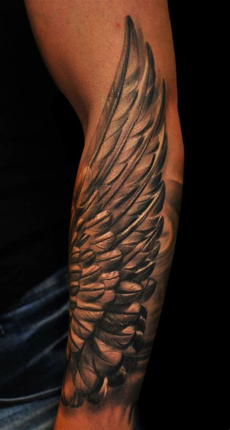 angel wing tattoo on forearm 17 best ideas about wing tattoos on wing