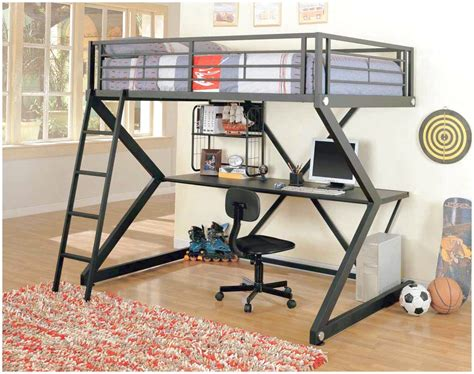 unique simple teenage loft bed with desk aside double hung pink and black to match the soft bed and have a shiny