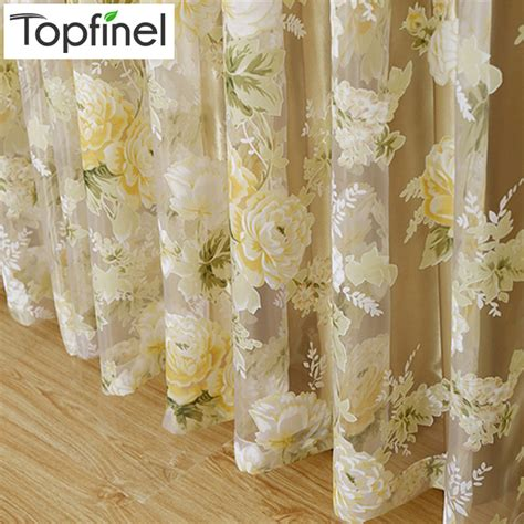 kitchen curtain material aliexpress buy 2015 modern tulle for windows shade sheer curtains fabric for