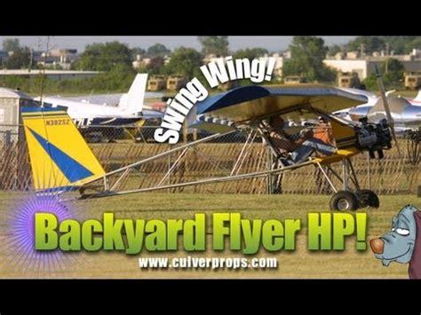 Backyard Flyer Ultralight by Backyard Flyer Swing Wing Part 103 Ultralight