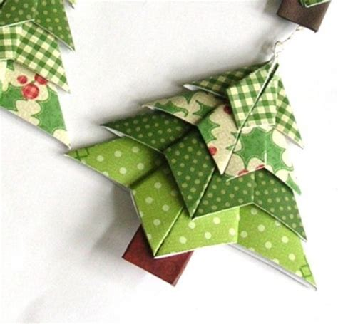 Origami Tree Decorations - beautiful tree ornaments