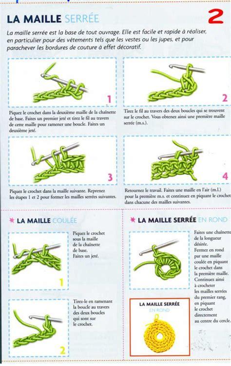 Maille Serrée Au Crochet by Maille Serr 233 Maille Coul 233 E Maille Serr 233 E En Rond