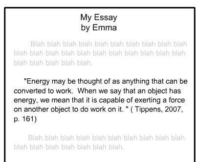 apa format quotation marks academic honesty tutorial
