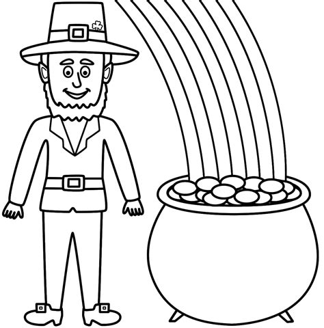 gold star coloring page rainbow and pot of gold coloring pages st patricks