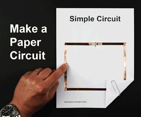 paper circuit card template paper circuits for makerspaces makerspaces