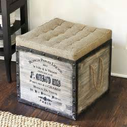Diy Storage Ottoman Cube Our Hopeful Home Diy Burlap Storage Ottomans