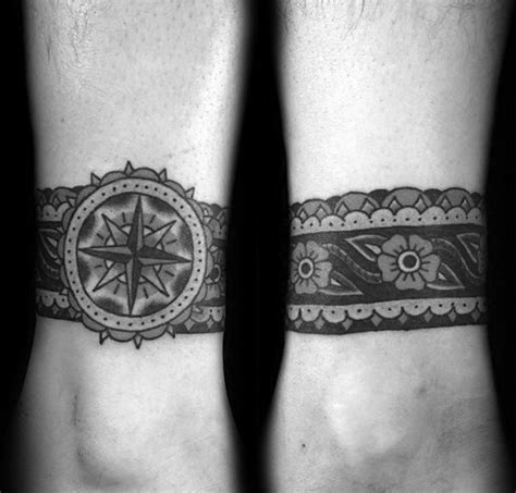 leg band tattoos for men 60 ankle band tattoos for lower leg design ideas