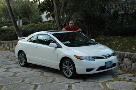 honda white car white honda car stolen look out for it bahamas