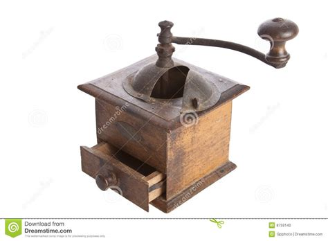 Old Manual Coffee Grinder Machine Wooden Made Stock Photo   Image: 8759140