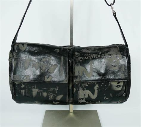 Sale Alert Jean Paul Gaultier Prive Satchel by Jean Paul Gaultier Vintage Retro Dietrich Print Leather