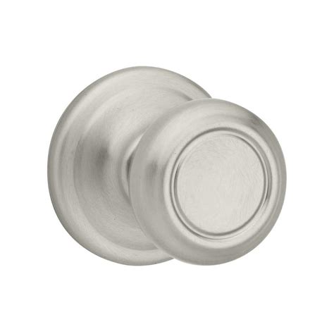 Satin Nickel Interior Door Knobs Shop Kwikset Cameron Satin Nickel Passage Door Knob At Lowes