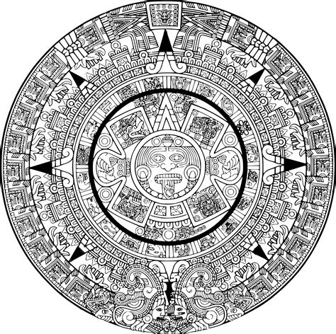 Free Coloring Pages Of Aztec Sun Aztec Coloring Pages