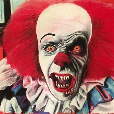 The Simpsons Stephen King It Pennywise chantalhandley new pennywise pastel drawing stephen