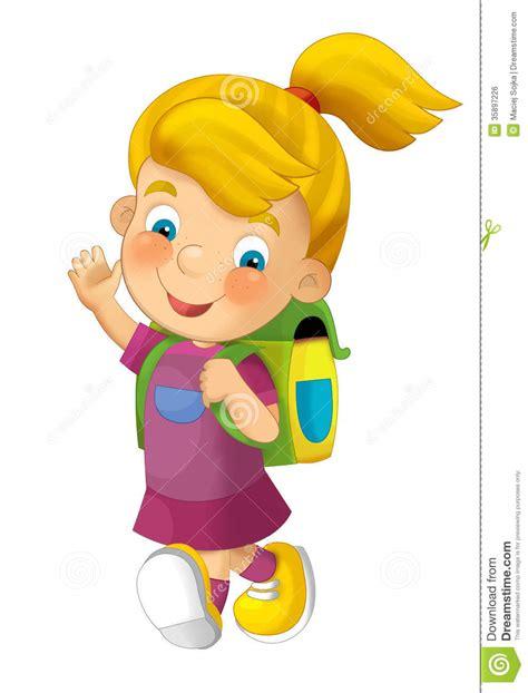 clipart bambino andare a scuola bambino fumetto illustrazione