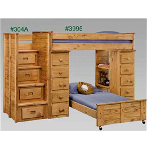 Bunk Bed Stairs Drawers Stairs Bunk Or Loft Bed S Loft Bed With Stairs And Drawers 3995 304a Pc Elitedecore