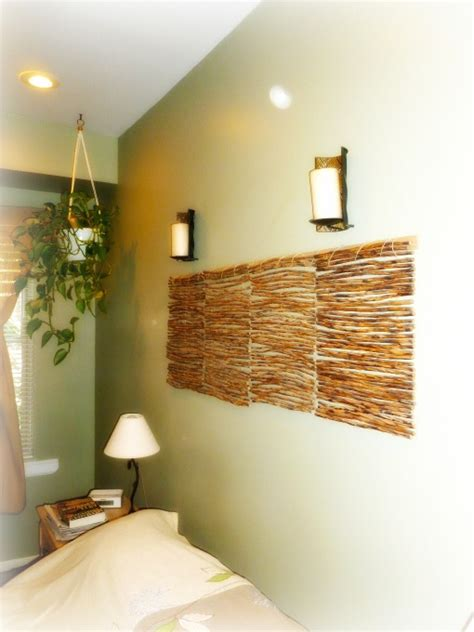 bedroom wall padding bedroom wall feature hang wooden place mats together